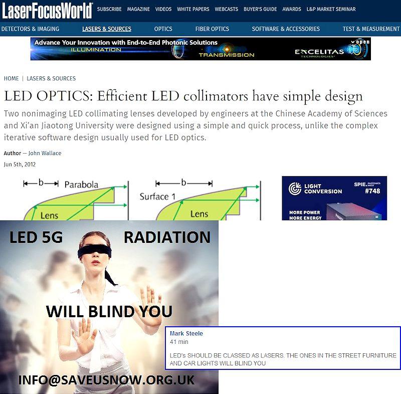 Viser en tråd 5G, SMART meter, LED, DEW, EMP, EMF military